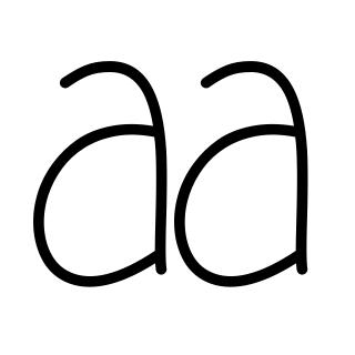 Pretty handwriting styles for girls alphabet